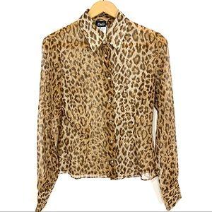 Dolce & Gabbana Leopard & Diamond Blouse